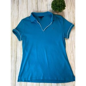 Tommy Hilfiger Turquoise Polo Shirt